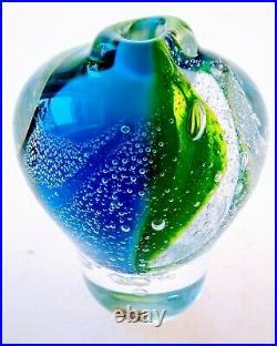 1975 Ann Warff Kosta Boda Atelje Crystal Retro MID Modern Vase Sculpture Sweden