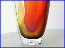 1980's Kosta Boda 20 Kjell Engman TOBAGO Large Bottle Glass Vase