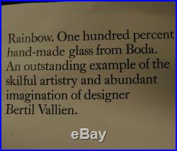 3 Vintage Kosta Boda Vases Group Lot Instant Collection Rainbow Bertil Vallien