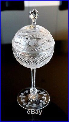 A Beautiful Early Kosta Boda Crystal Comport Signed