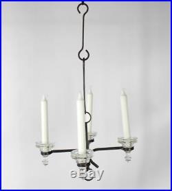 A Bertil Vallien 4 arm candle chandelier for Boda Smide Swedish