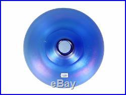 A Bertil Vallien Kosta blue lustre vase Iridescent Swedish art glass