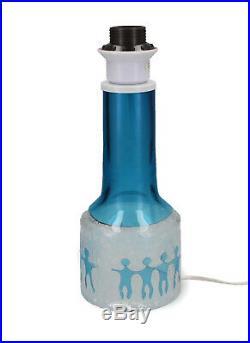 A Kosta Ove Sandeberg blue lamp Swedish art glass light