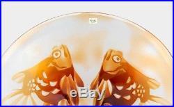 A Kosta Paul Hoff glass bowl Goldfish design Swedish art glass (Boda)