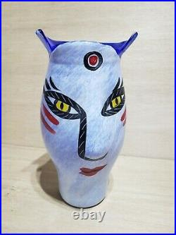 AMAZING 11 Kosta Boda Swedish Glass Vase Face Design Ulrica Hydman-Vallien GIFT