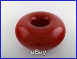 Anne Nilsson Donot for Kosta Boda. Bowl in art glass in red