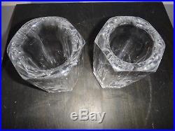 Antique Figural Set Kosta Boda Lead Crystal Etched Vases Lion Rampant Plus Minis