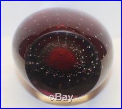 Antique Kosta Vicke Lindstrand Sommerso Suspended Bubble Art Glass Vase