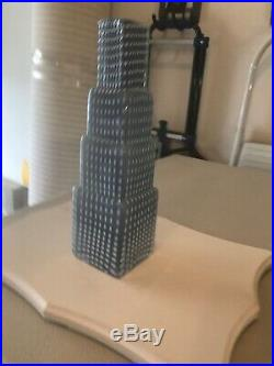 Art Deco Style Kosta Boda Metropolis Skyscraper Glass Vase Sculpture B. Vallien