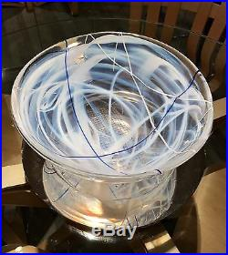 BEAUTIFUL NEW WithO BOX LARGE HEAVY KOSTA BODA ART GLASS CENTERPIECE BOWL 14 DIA