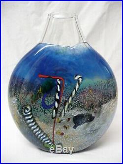 BERTIL VALLIEN for KOSTA BODA Blue' SATELLITE' Vase