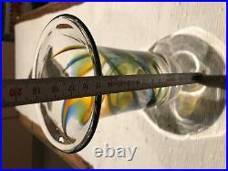 Bauhaus Kosta Boda Goran Warff Signed Swedish Art Glass vase