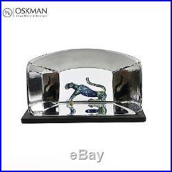 Beautiful Cat Glass Block Bertil Vallien for Kosta Boda Signed