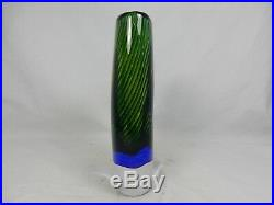 Beautiful Vicke Lindstrand Design Kosta Boda glass vase / Glas Vase 20,5 cm