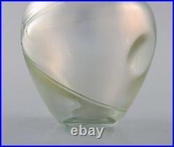 Bertel Vallien for Kosta Boda, Sweden. Vase in mouth blown art glass