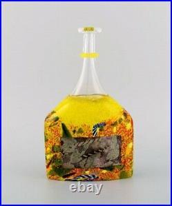 Bertel Vallien for Kosta Boda. Unique vase in mouth blown art glass. 1980s