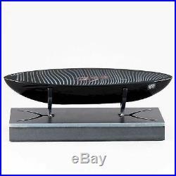 Bertil Vallien (2019) Glass Boat Pilgrim (23 cm / 9.1 in)