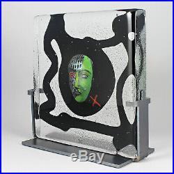 Bertil Vallien (Black Elements 2008) Fascinating Glass Sculpture River
