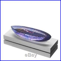 Bertil Vallien'Boat in Space' glass sculpture (Kosta Boda)