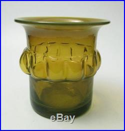 Bertil Vallien Boda Afors Pre Kosta Sweden Green Art Glass Vase Scandinavian #1