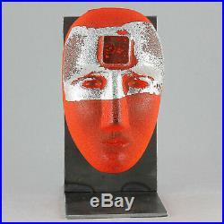 Bertil Vallien (Brains 2018) Large Glass Head Look in Orange