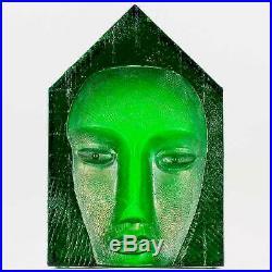 Bertil Vallien (House Inside 2017) Emerald Mask Glass Sculpture