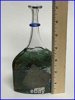 Bertil Vallien Kosta Boda Art Glass Satellite Bottle 7 Signed