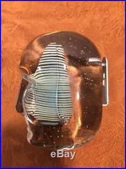 Bertil Vallien Kosta Boda Art Glass Sculpture Of Head And Brain