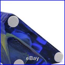 Bertil Vallien Kosta Boda BLUE/YELLOW BRAINS BLOCK SIGNED