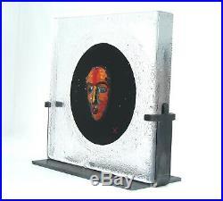 Bertil Vallien Kosta Boda Black Enigmatic Sculpture Black Elements'Black Moon