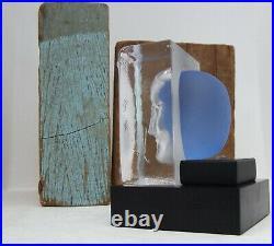 Bertil Vallien Kosta Boda Karolina and Ice Block Sculpture