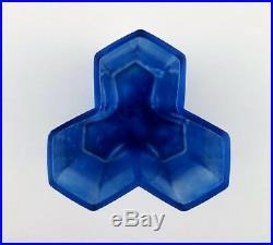 Bertil Vallien, Kosta Boda, Mosaic vase of blue glass art