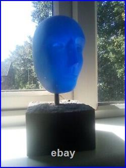 Bertil Vallien Kosta Boda glass head sculpture
