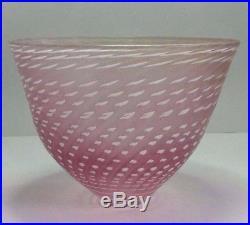 Bertil Vallien Pink Minos Bowl. Artist Collection. Kosta Boda