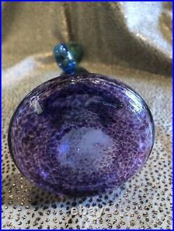 Bertil Vallien Vintage Kosta Boda Artist Signed Wind Pipe Bottle Vase