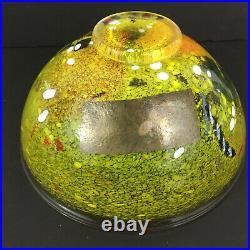 Bertil Vallien for Kosta Boda Artist Collection Yellow Satellite Bowl 9.75