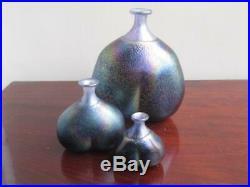 Bertil Vallien for Kosta Boda Set of three Volcano Vases