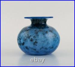 Bertil Vallien for Kosta Boda. Vase in blue mouth blown art glass. 1980's