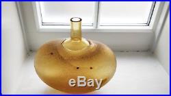 Bertil Vallien glass vase for Kosta Boden #89607. Chico range. Etched signature