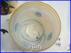 Boda Galaxy Blue Bowl made in Sweden Artist signed B. Vallien # 58015 1