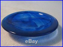 COSTA BODA BY Anna Ehrner 12 INCH WIDE LARGE ATOLL BLUE DISH, NEW