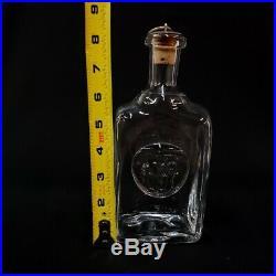 Decanter Erik Hoglund Bull Horse Kosta Boda Liquor Sweden Crystal Bar Rare Old