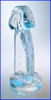 ERIK HOGLUND Rare People Figurine Crystal Sculpture KOSTA BODA SWEDEN 1960s MCM