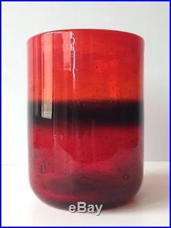 ERIK HOGLUND blown Glass Vase Artium BODA SWEDEN Mid Century Modern