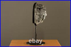 Erik Hoglund. Female Solid Glass Sculpture in Cast Iron Frame. BODA Sweden 60s