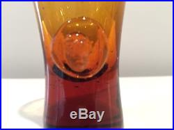 Erik Hoglund Glasmadamer People Decanter w Rare Matching Glasses For Kosta Boda