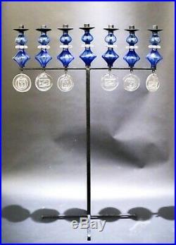 Erik Höglund (Hoglund) Boda Floor Candlestick Castiron & glass 1950´s