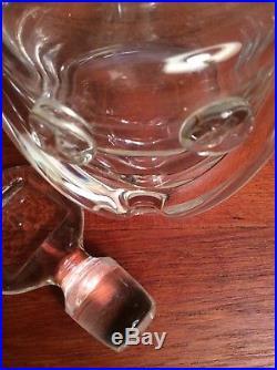 Erik Hoglund KOSTA BODA Sweden Art Glass PEOPLE FACE Decanter Bottle MID CENTURY