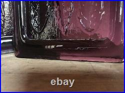 Erik Hoglund Kosta Boda Light Pendant Amethyst Glass Panels C1960