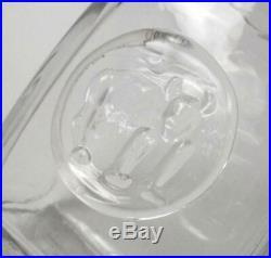 Erik Hoglund Kosta Boda Sweden Art Glass Monkey Bottle MID Century Signed